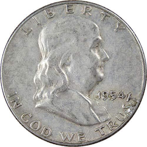 1954-S 50c Franklin Silver Half Dollar VF Very Fine ()