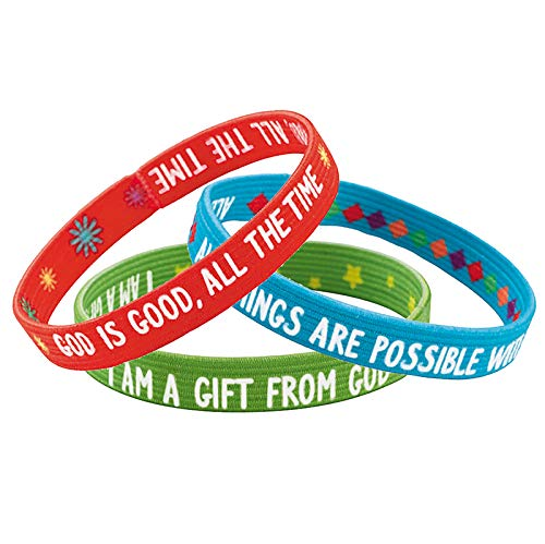 US Gifts Faith Sayings Inspirational Bracelet Assortment (3 Asst) - 48/pk