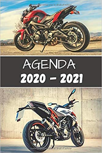 Agenda 2020   2021: Agenda moto 2020   2021 standard Primaire