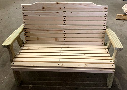 Wooden Bench for Kids, Children's Furniture for Patio, Playroom, Lawn, or Garden. Use Inside or Outdoors Made in USA (Fully Assembled) By Crossroad Sales LLC by Crossroad Sales LLC