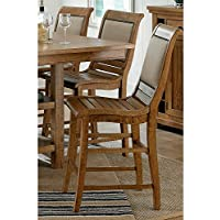 Progressive Furniture Willow Upholstered Chair, Distressed Pine