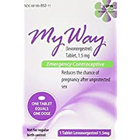 My Way Emergency Contraceptive 1 Tablet Compare to Plan B One-Step by Busuna lWSbvI, two tablets