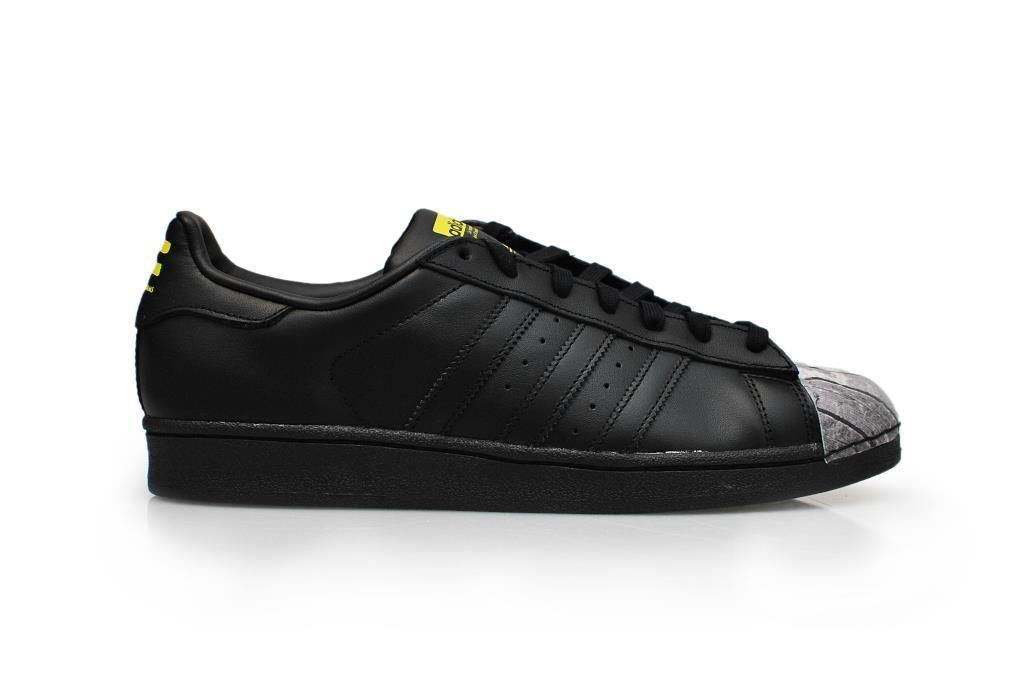 adidas Herren Sportschuhe  42 2/3 EU|CBLACK/CBLACK/YELLOW S83360