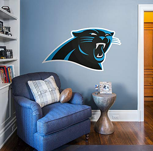 Fathead NFL Carolina Panthers Carolina Panthers: Logo - Giant Officially Licensed NFL Removable Wall -