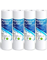 "5 Micron 10"" x 2.5"" Whole House Sediment Water Filter Replacement Cartridge Compatible with Any 10 inch RO Unit, Culligan P5, Aqua-Pure AP110, Dupont WFPFC5002, CFS110, RS14, WHKF-GD05, 4-Pack"