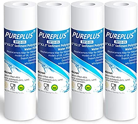 5 Micron 10 x 2.5 Whole House Sediment Water Filter Replacement Cartridge Compatible with Any 10 inch RO Unit Culligan//Pentek P5 Dupont WFPFC5002 RS14 WHKF-GD05 3-Pack Aqua-Pure AP110 CFS110