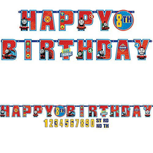 Amscan International 121752 1.8 M x 14cm Thomas and Friends Add an Age Letter -