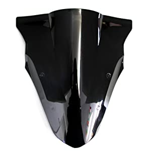 OyOCycle Windshield for Kawasaki NINJA 650 ER6F 2012-2016 Double Bubble Windscreen Wind Deflector Wind Splitter
