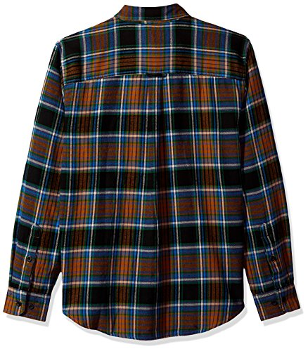 Woolrich Con Da Trout Bottoni multi Maglia Flannel Shirt Uomo Run Black rr1qWnS0