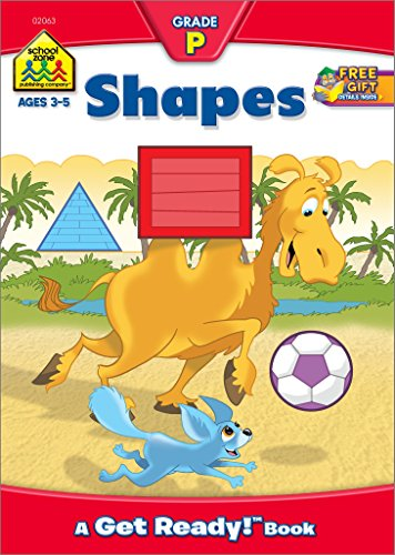 SCHOOL ZONE - Shapes Workbook, Preschool, Ages 3 to 5, Get Ready!™, Basic Shapes, Same or Different, Comparing, Contrasting, Illustrations and More! (Get Ready Books)