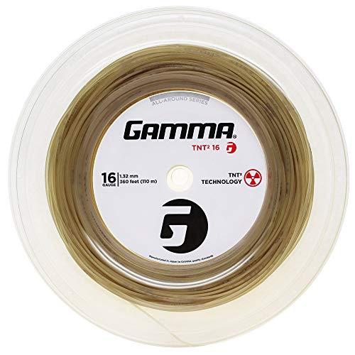 Gamma Sports 16g TNT2 Tennis String Reel, 360', Natural