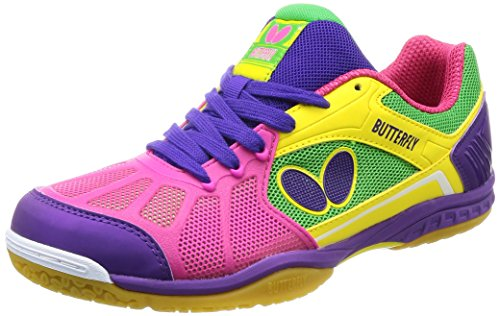 Butterfly Lezoline Rifones Table Tennis Shoes, Pink, Size 7.5