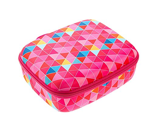 ZIPIT Colorz Jumbo Large Storage Box, Pink Triangles Photo #6
