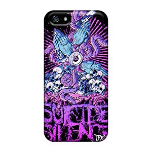 Apple Iphone 5/5s Pkm2580sKZZ Support Personal Customs Realistic Suicide Silence Series Durable Hard Cell-phone Case -JoannaVennettilli