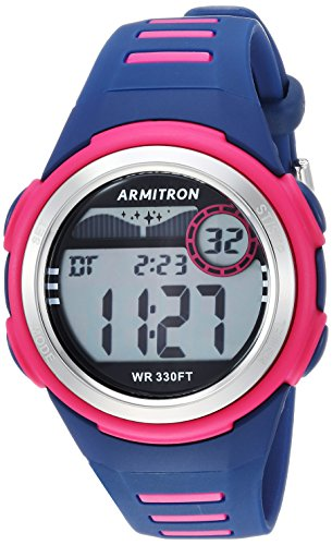 Armitron Sport Unisex 45/7069NVY Digital Chronograph Magenta and Navy Blue Resin Strap Watch by Armitron Sport