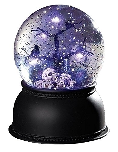 Roman Inc. 32626 Skulls & Crows Glitterdome with LED Tree