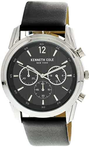 e984fdec53ac7 Kenneth Cole Men s Silver Leather Japanese Quartz Fashion Watch KC50229001