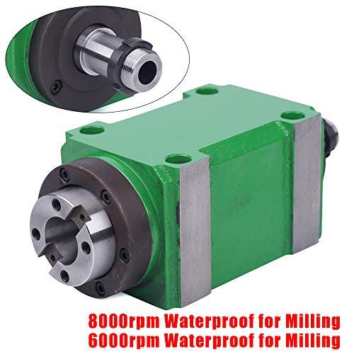 1.5KW 2HP Power Milling Head, BT30 Waterproof Taper Chuck Spindle Unit 7:24 Power Head & Drawbar, High Speed 6000rpm…