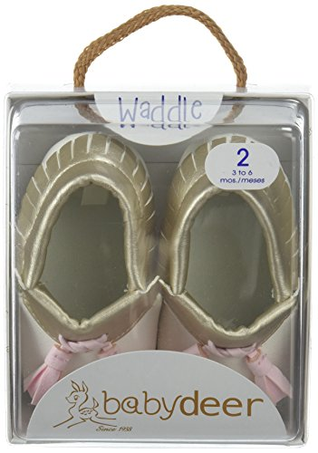 Pictures of Baby Deer Girls' 0004136 Moccasin White 1 White 1 Child US Infant 3