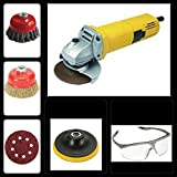 HEAVY DUTY ANGLE GRINDER ALONG WITH DIFFERENT ACCESSORIES FOR HOME & PROFESSIONAL PURPOSES.