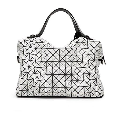 Sac Diagonal Sac Sac Femmes épaule à Mode Losange Hommes Et Pliage De CY Moto White Paquet Bag Main Géométrie Dames De aqBIvBHW