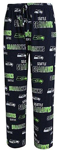 Seattle Seahawks Mens Navy Sweep Pajama Pants by Concepts Sports (L=34-35) (Seattle Seahawks Pajama Pants)
