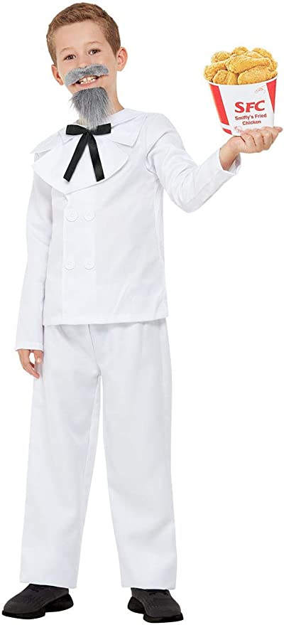 Victorian Kids Costumes & Shoes- Girls, Boys, Baby, Toddler Smiffys 71068M Captain Cluck Costume Boys White M - Age 7-9 years £17.51 AT vintagedancer.com