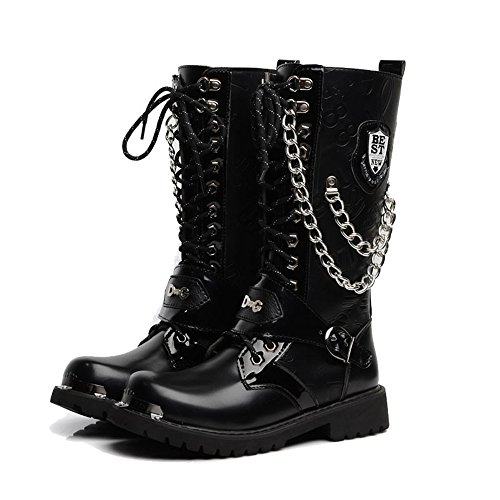 Retro Motorcycle Boots - 6