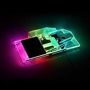 Bykski GPU Copper RBW LED Water Cooling Block for Gigabyte RX 5500XT Gaming OC 8G