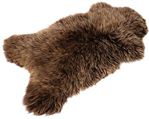 Brown Sheepskin Rug | Genuine | Thick Wool | Best Quality (Brown 100-110 cm)