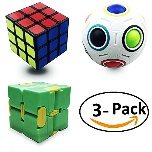 Anditoy Speed Cube Magic Puzzle Ball Infinity Cube Fidget Toys (3 Pack) for cheap