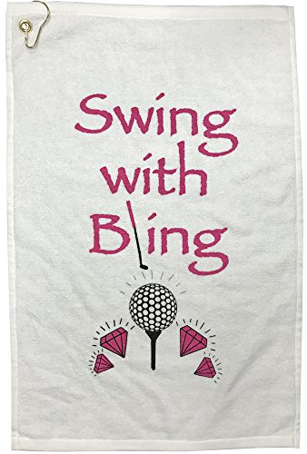 Giggle Golf Swing With Bling Golf Towel Diva Golf Stand Bag