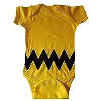 Custom Kingdom Baby Boys/Girls Peanuts Charlie Brown Bodysuit (12 Months, Yellow)