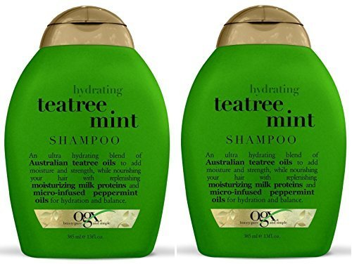 Mint Invigorating Hydrating Conditioner - Ogx Hydrating Shampoo - Tea Tree Mint - 13 oz - 2 pk