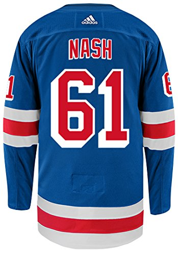 adidas Rick Nash New York Rangers Authentic Home NHL Hockey Jersey