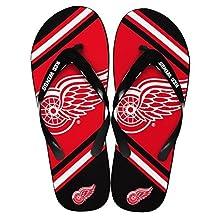Detroit Red Wings NHL Team Big Logo Unisex Flip Flop Beach Sandals