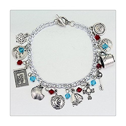 Once Upon A Time 11 Charms Toggle Clasp Bracelet in Gift Box by Superheroes ()