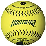 DeMarini Lightning USSSA Men's Classis M Series Slowpitch Synthetic Leather Softball (12-Pack), 12-Inch, Optic Yellow