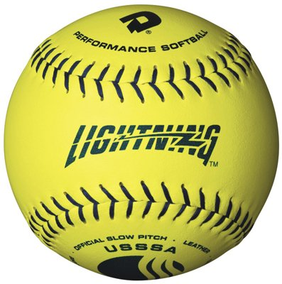 DeMarini Lightning USSSA Men's Classis M Series Slowpitch Synthetic Leather Softball (12-Pack), 12-Inch, Optic Yellow by DeMarini