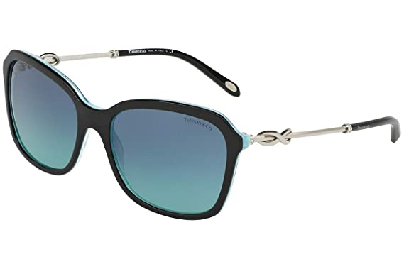 dfeb598692 Amazon.com  Tiffany   Co. TF4128B Sunglasses Black Striped Blue w ...