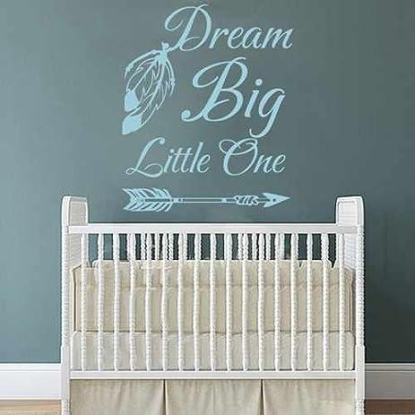 Amazon.com: Dream Big Little One Wall Decal Baby Nursery Wall Decor ...