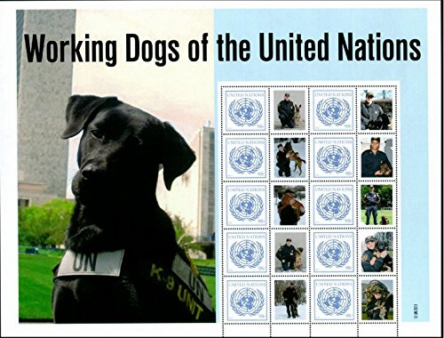 - United Nations (NY) 2011 Working Dogs Personalized Sheet -#1023
