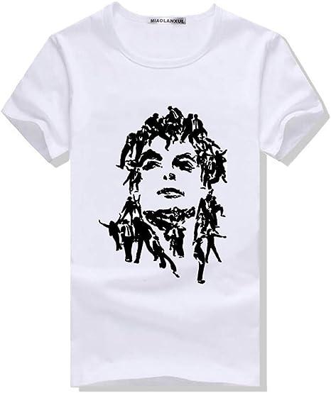 JJZHY Disfraz de Michael Jackson, Cuello Redondo, Manga Corta ...