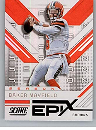 7f9e473c Amazon.com: 2019 Score Epix Season Football #10 Baker Mayfield ...