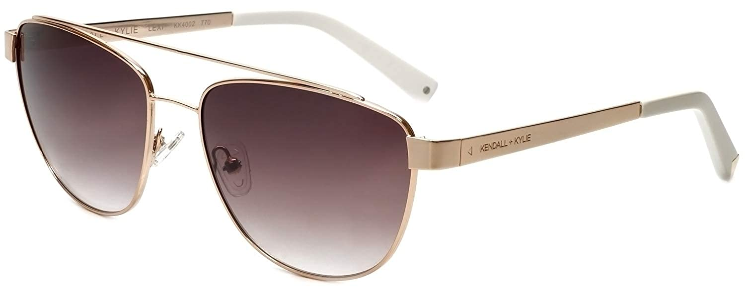 948a007f781 Amazon.com  Kendall + Kylie Lexi KK4002 770 Gold   Brown Gradient Sunglasses   Clothing