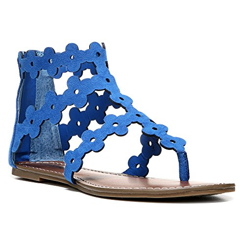 Carlos By Carlos Santana Womens Finesse Split Toe Sandali Gladiatore Casual Blu Corfu
