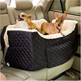 Snoozer Pet Products Large Lookout Dog Car Seat – Black Quilt, My Pet Supplies