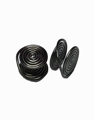 Oscuro alambre envuelto pendientes de clip, alrededor de 12 mm, hecho a mano en Estados Unidos por earlums: Earlums: Amazon.es: Joyería