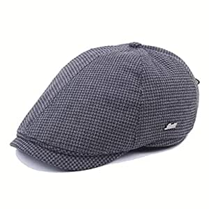 Dhm-womens hat Fashion Gorras de Boina de Rejilla de algodón for ...