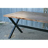 Industrial Dining Table. Minimalist Wood and Steel.
